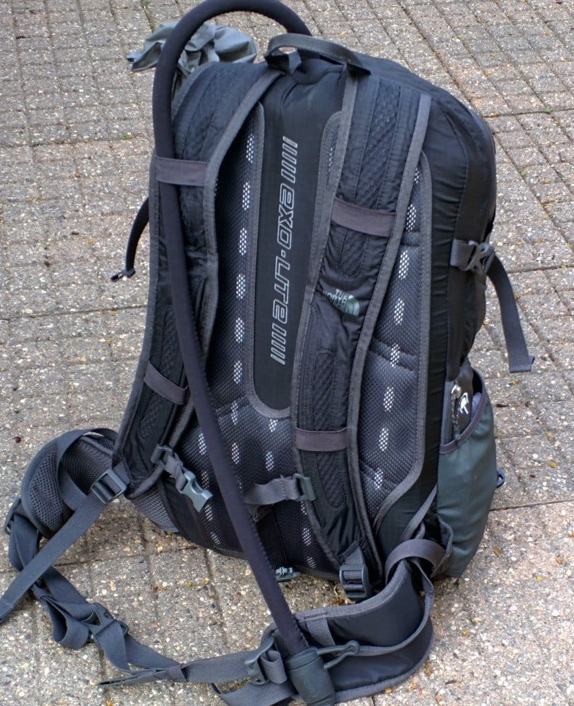 The North Face backpack rear view