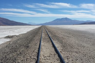 Railroad to nowhere in Bolivia