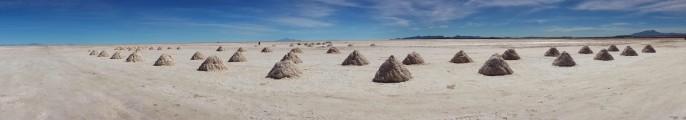 Uyuni salt processing fields