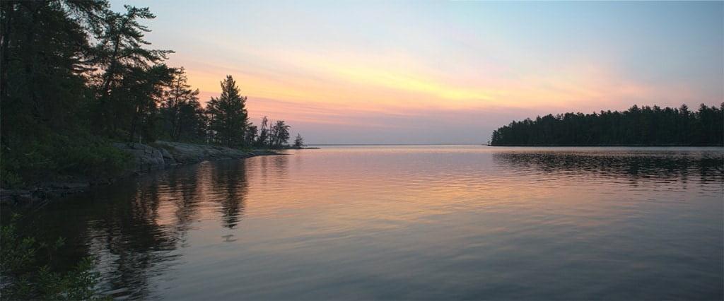 Rainy Lake Sunrise