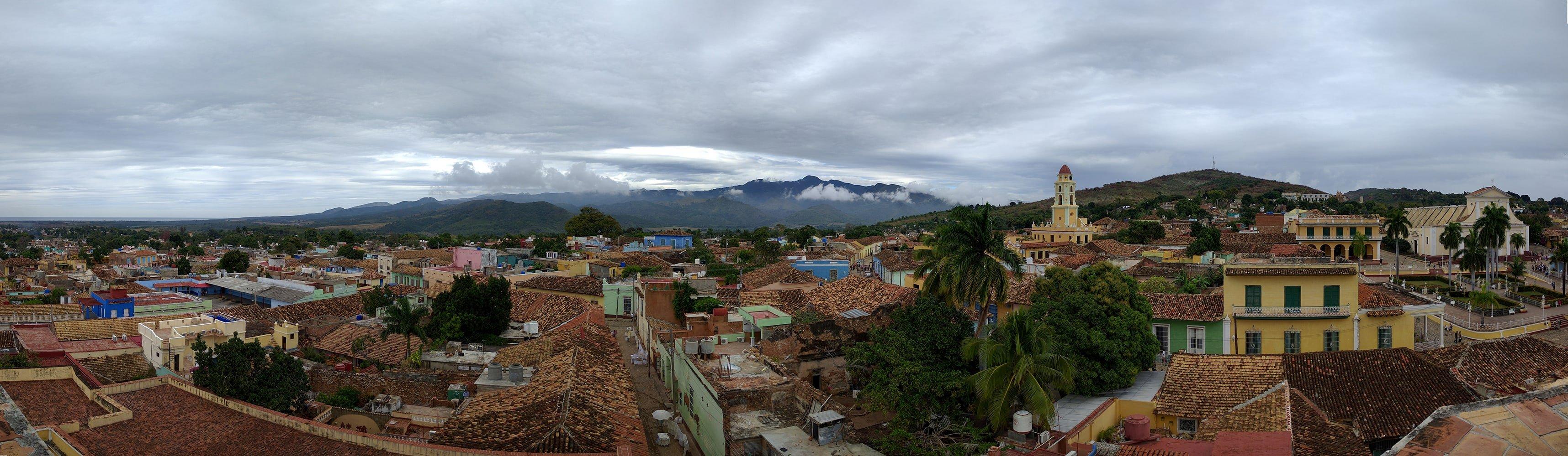 Trinidad Cuba Church and Mountains