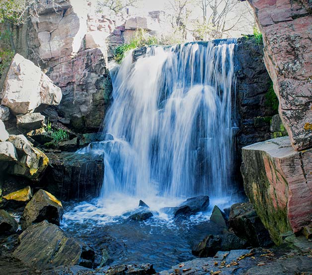 Waterfall in Pipestone National Monument